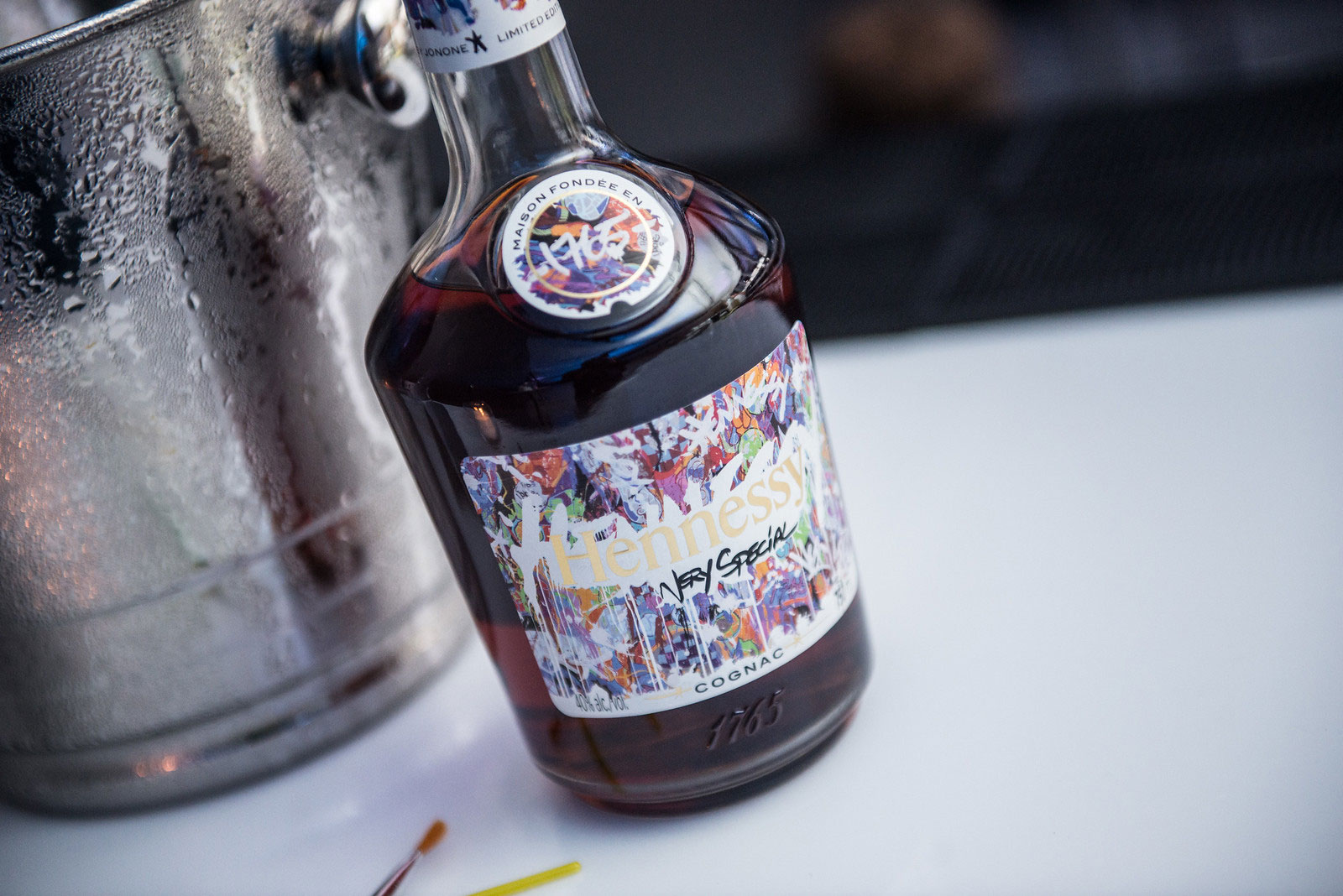 Hennessey Very Special release. Label designed by the graffiti artist JohnOne.