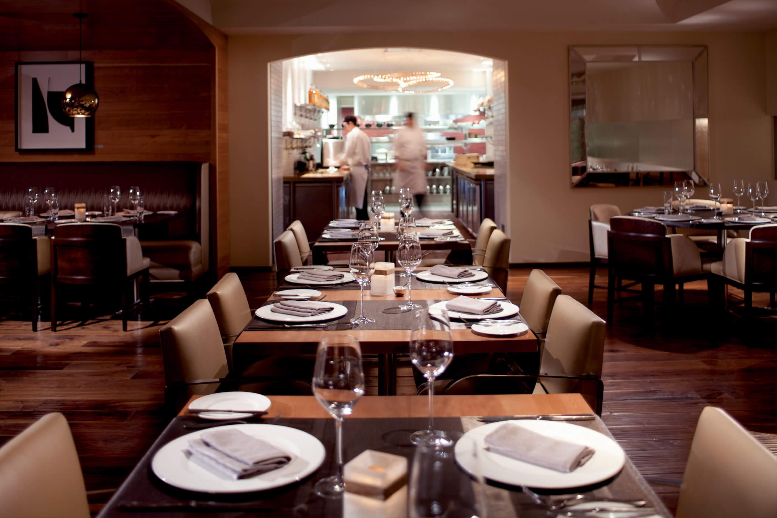 TOCA restaurant, interior design.