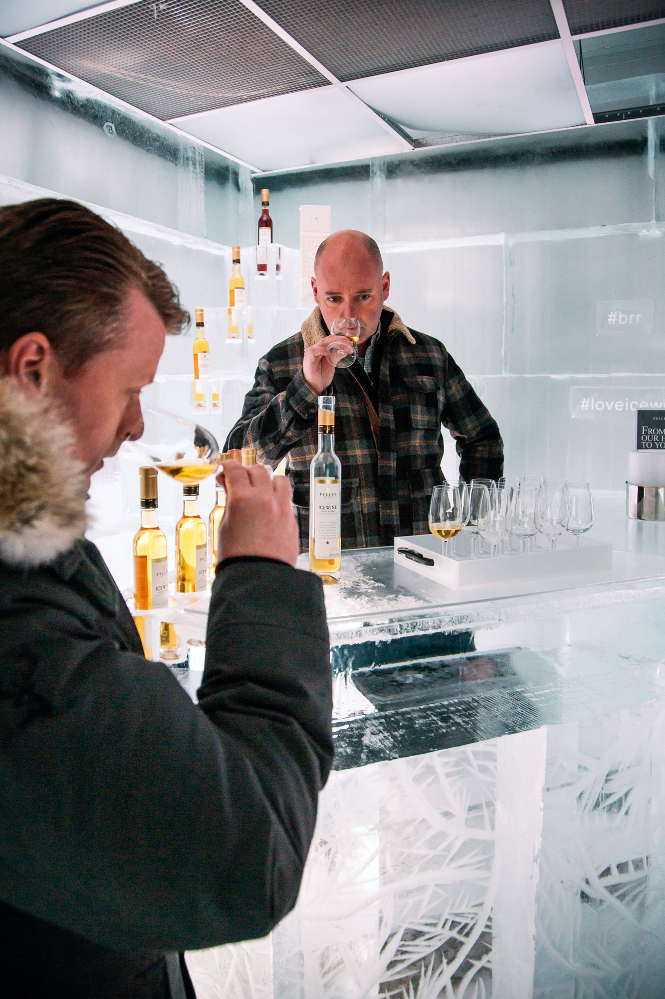 Degustation of Glenfiddich Winter Storm Whisky.