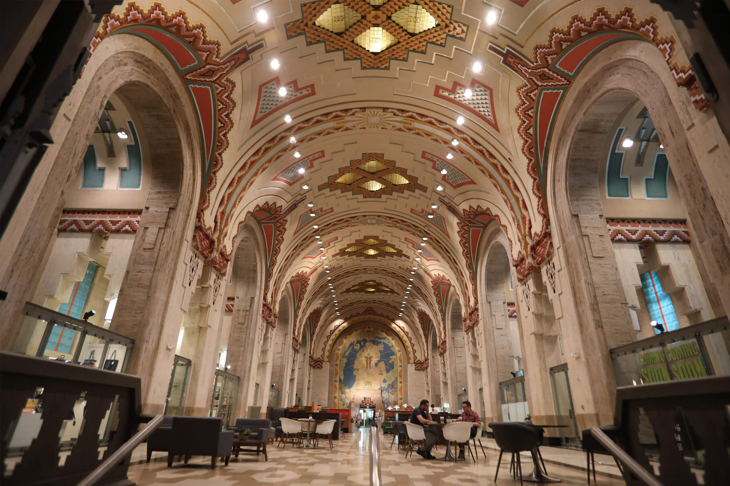 Interior of the Guardian Building in Downtown Detroit.