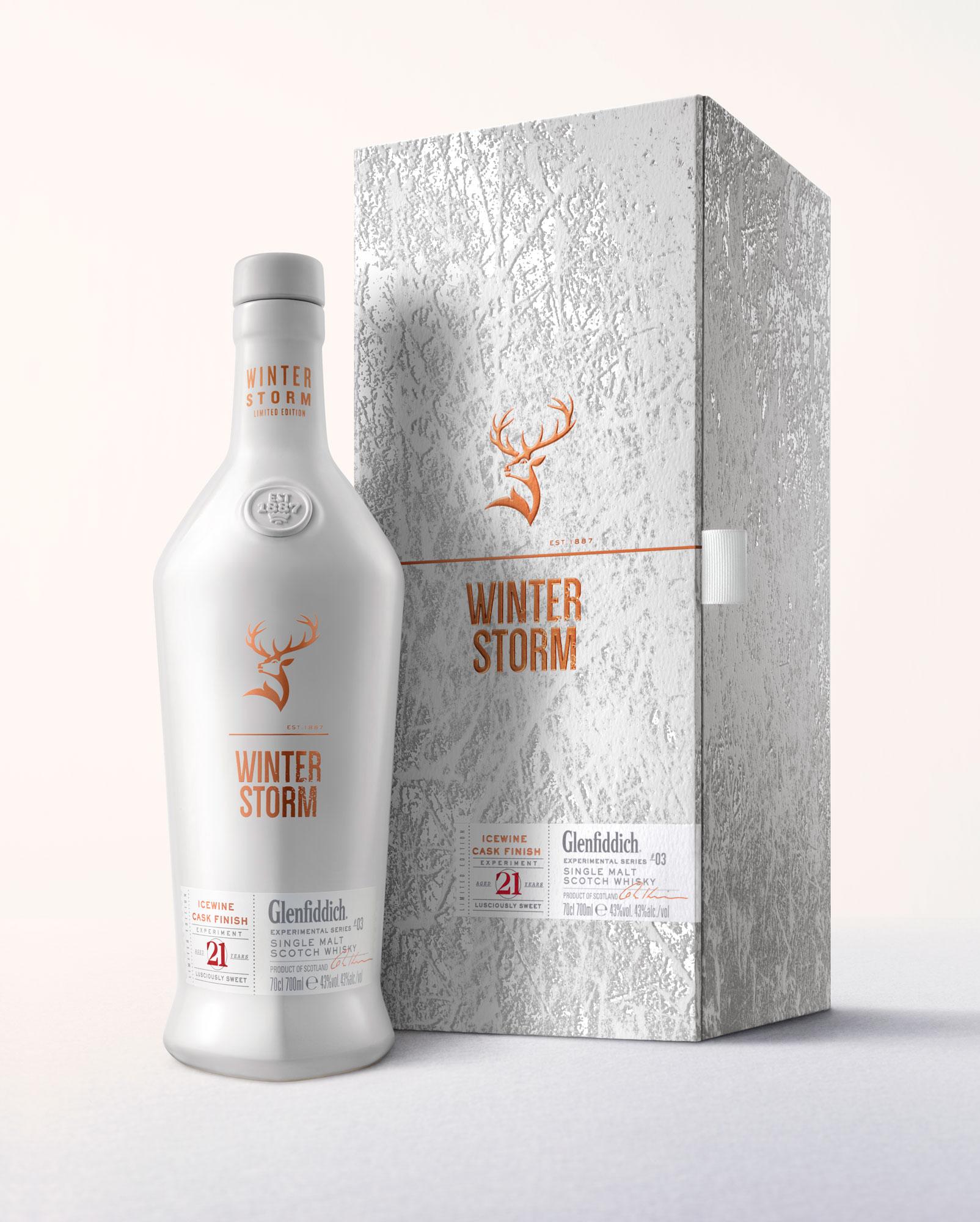 Glenfiddich Winter Storm Whisky.