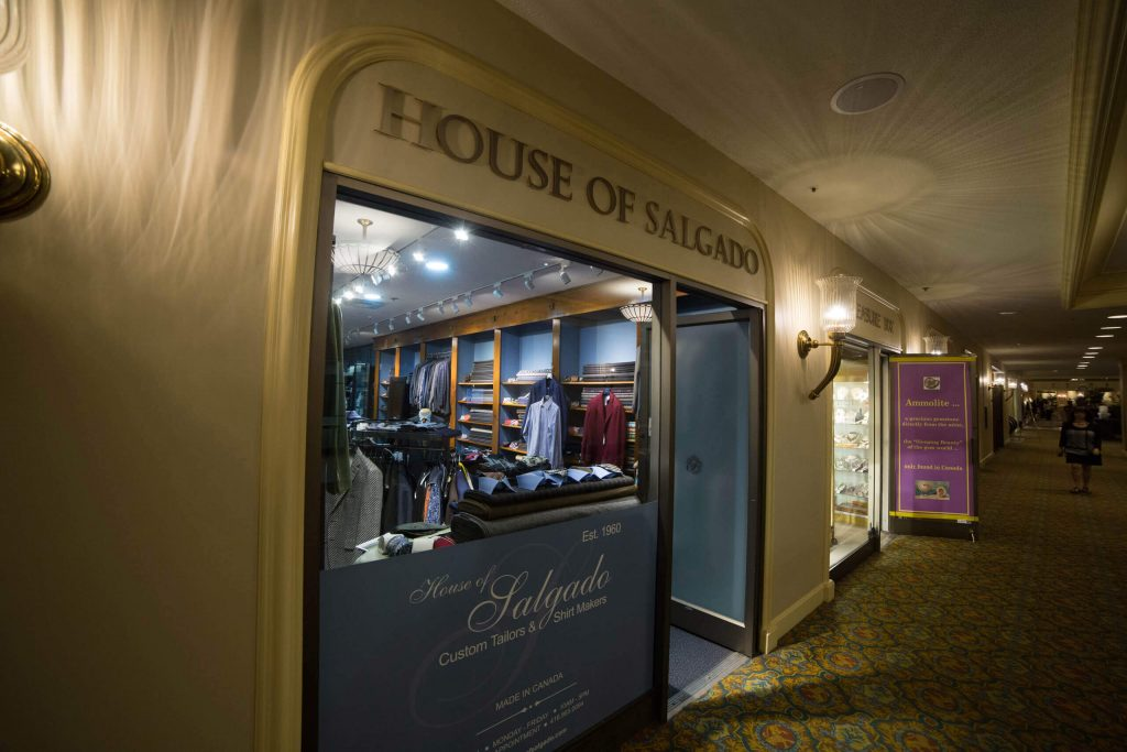 Custom clothier in Canada – House of Salgado, front entrance.