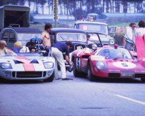 Steve McQueen and Siegfried Rauch car racing