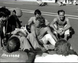 Steve McQueen on the race track