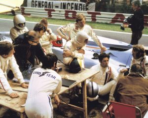 The crew of Le Mans on a race track