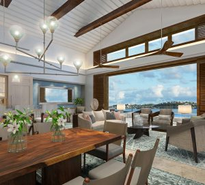 Penthouse Living Room at The Cove, Caroline Bay, Bermuda