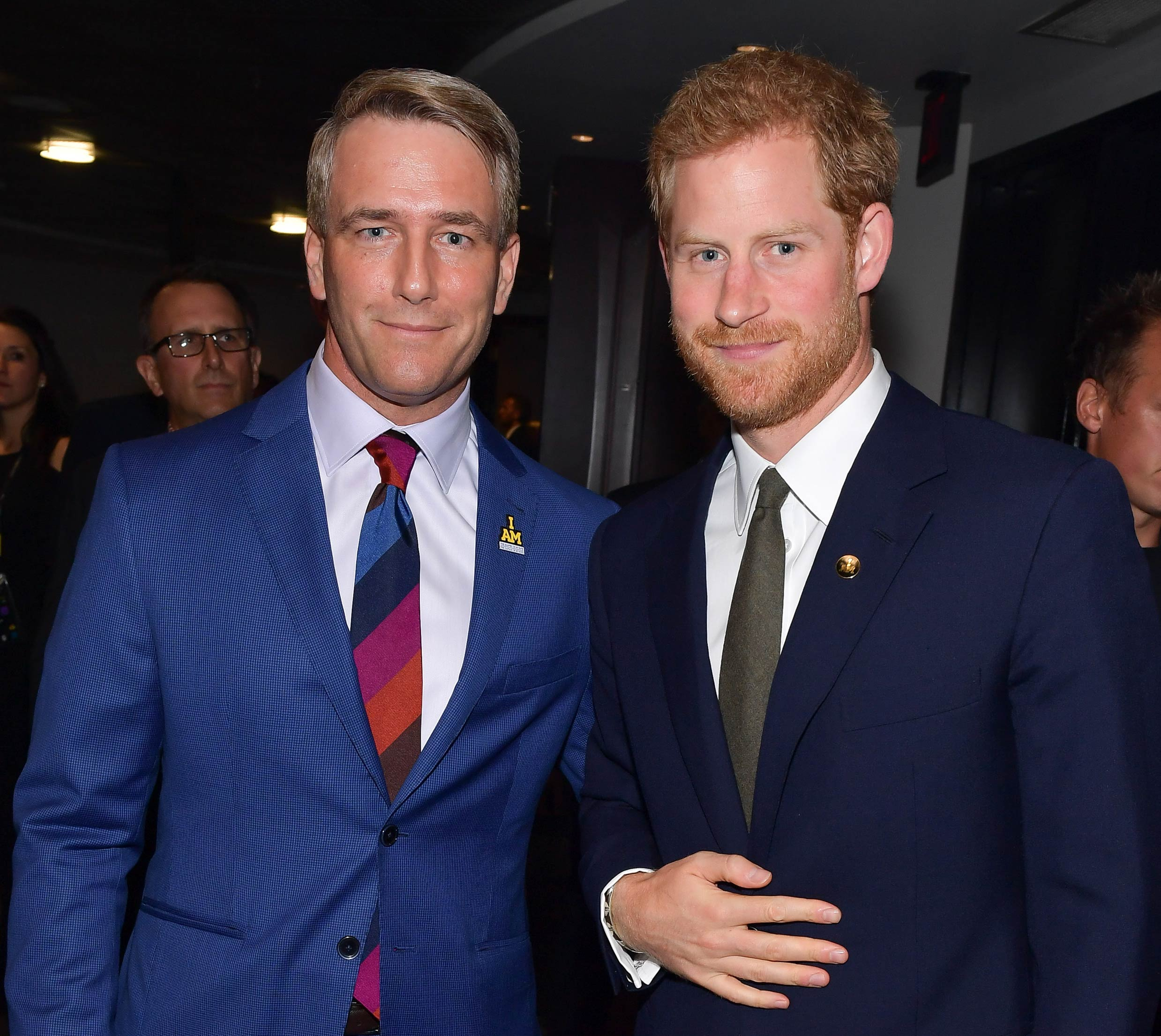 Prince Harry and Michael Burns at the Opening Ceremony VIP Gala