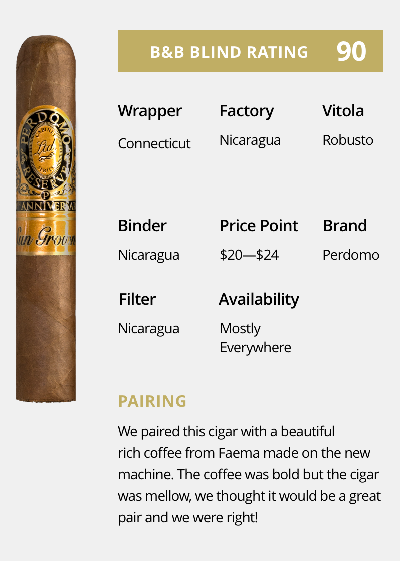 Cigar Review – PERDOMO RESERVE 10TH ANNIVERSARY CHAMPAGNE