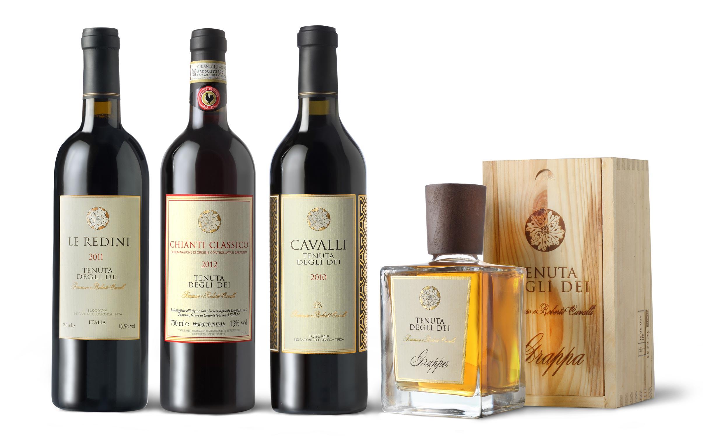 Wine Vintages produced at Tenuta degli Dei.