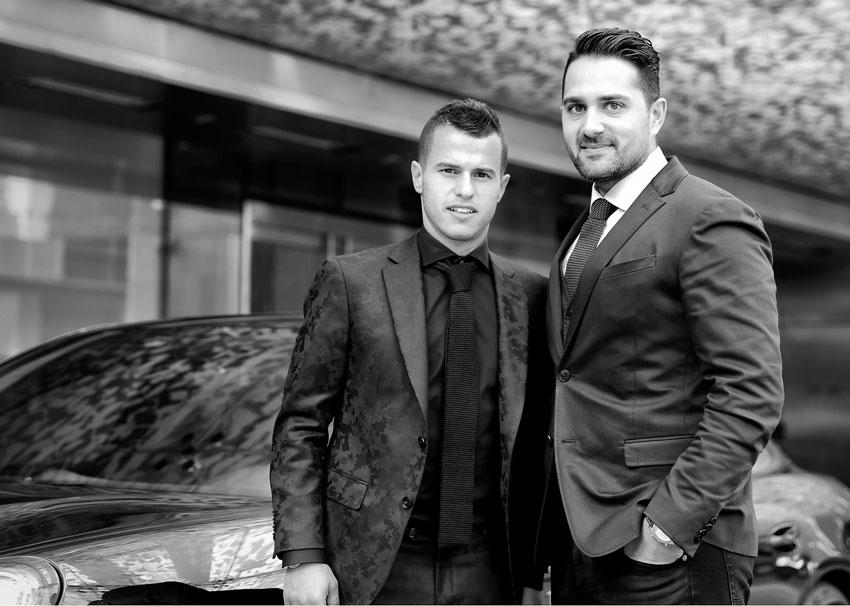 Francesco Policaro with Sebastian Giovinco, 2015 MLS MVP