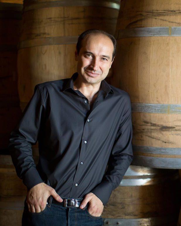 Tommaso Cavalli in wine cellar at Tenuta degli Dei.