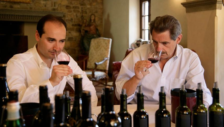 Wine tasting at Tenuta degli Dei.