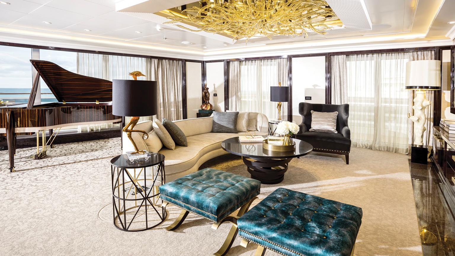 Luxury cruise Explorer Seven Seas Interior View