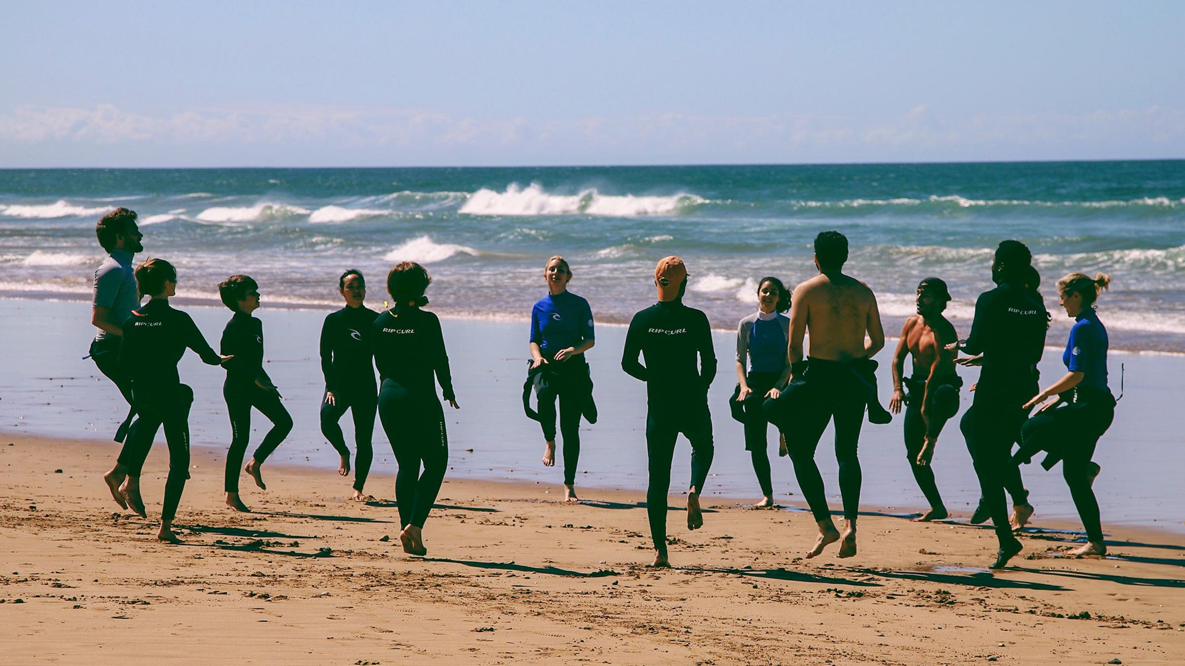 Yoga Retreat Beach Practice