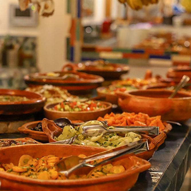 Yoga Retreat Dinner Table